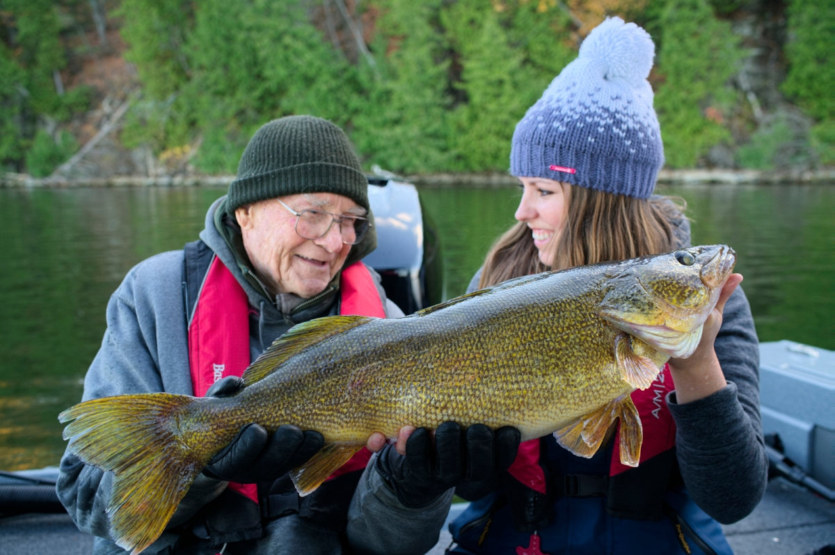 world class fall walleye fishing ashley rae